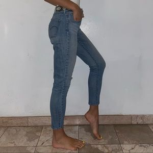 Levi's high waisted skinny ankle jeans